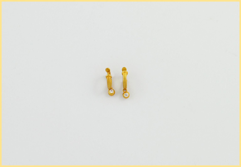 Brillantohrringe 18 Karat Gelbgold